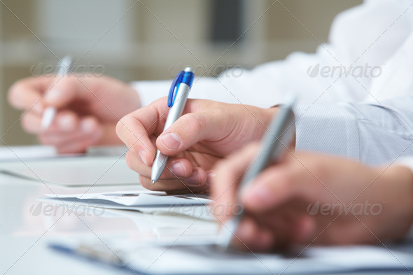 Making notes - Stock Photo - Images