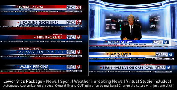 After Effects Project - VideoHive Broadcast Design News Lower Third Package1 3365201