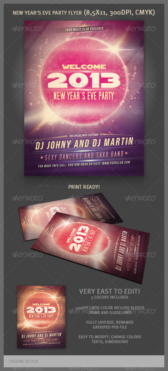 GraphicRiver New Year Party Flyer 3383688