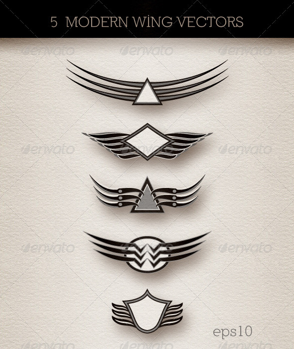 GraphicRiver Wings Insignia; Modern Abstract Style 3383741
