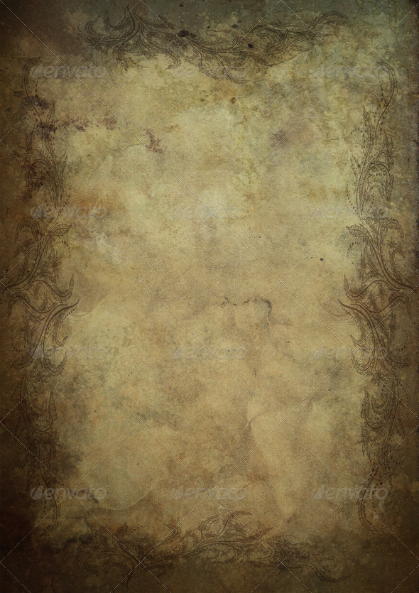 Old ornamental paper parchment A4 format 1 Stock Photo by