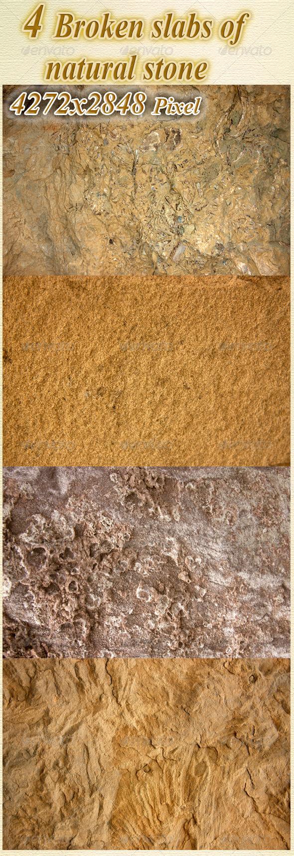 GraphicRiver Broken Slabs of Natural Stone 3384055