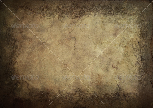 Old ornamental paper parchment A4 format 7 - Stock Photo - Images