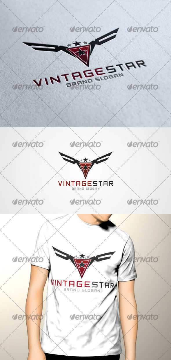 GraphicRiver Vintage Star Logo 3384454
