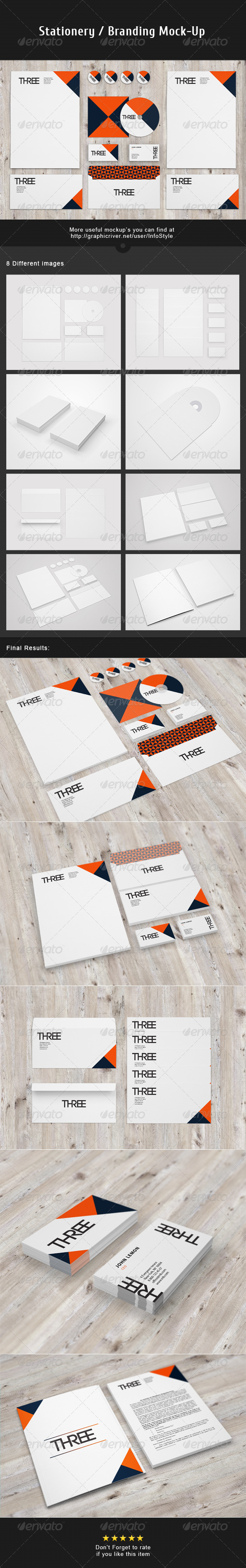GraphicRiver Stationery Branding Mock-Up Vol.3 3386684
