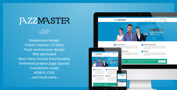 ThemeForest JazzMaster Responsive Business WordPress Theme 3258640