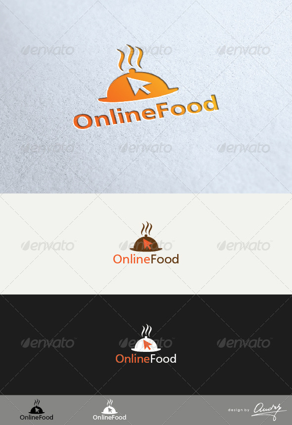 Online Food Logo Template - Abstract Logo Templates