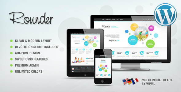Rounder: Multi-Purpose Adaptive Wordpress Theme - Business Corporate