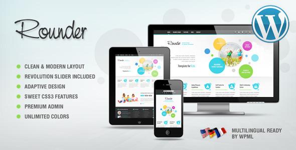 ThemeForest Rounder Multi-Purpose Adaptive Wordpress Theme 3387754