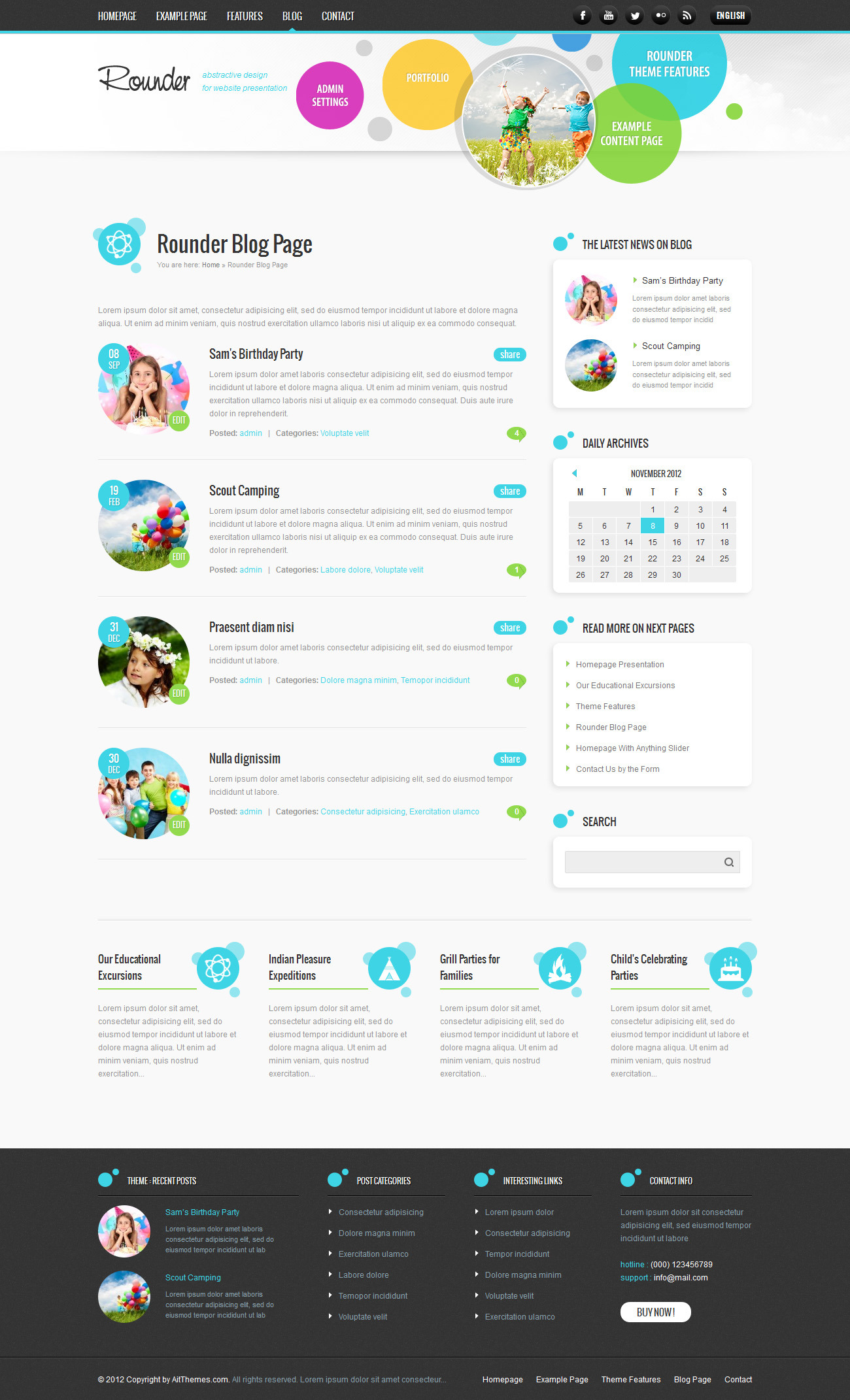 Rounder: Multi-Purpose Adaptive Wordpress Theme