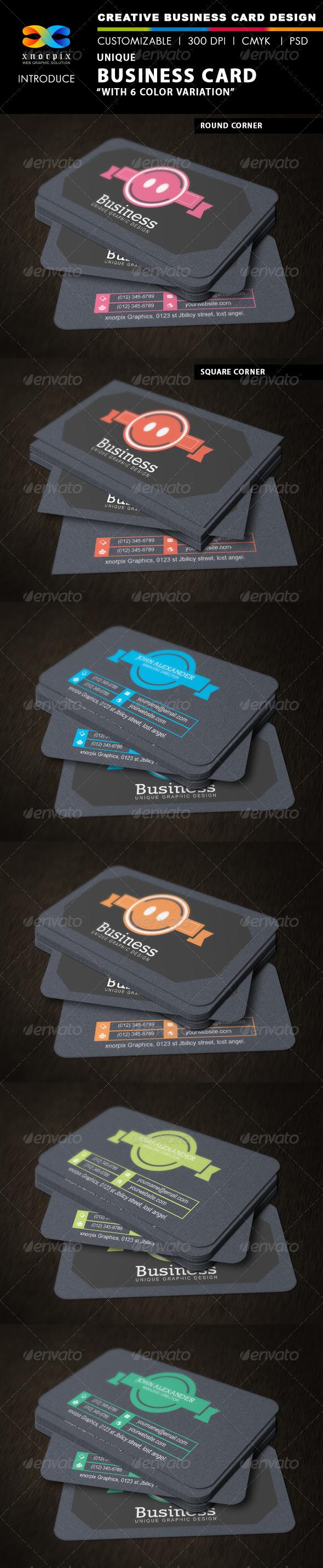 GraphicRiver Unique Business Card 3391096