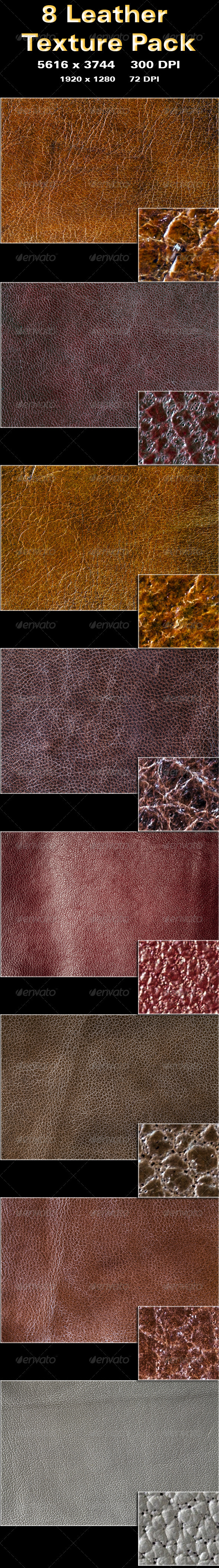 GraphicRiver 8 Leather Texture Pack 3391875