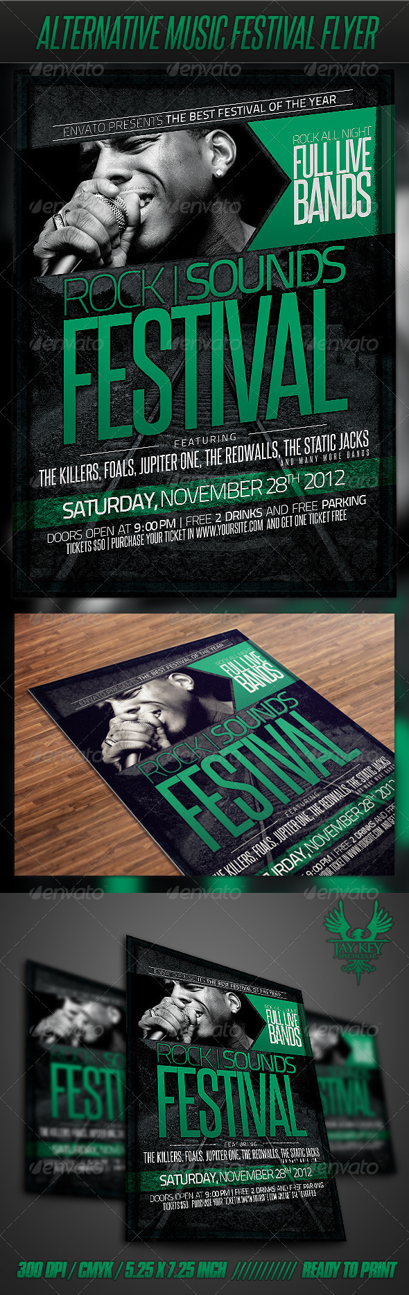 GraphicRiver Alternative Music Festival Flyer 3392049