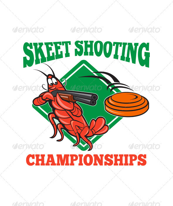 GraphicRiver Crayfish Lobster Target Skeet Shooting 3392216