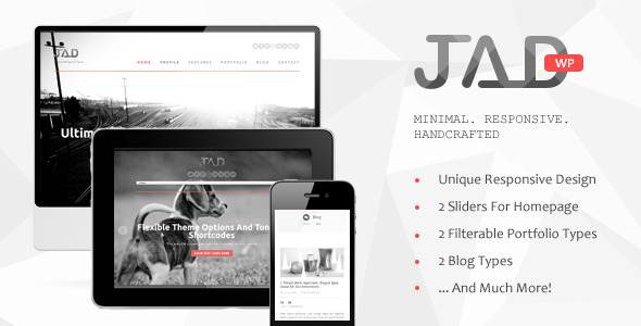 ThemeForest Jad Creative Wordpress Theme 3392920