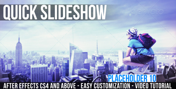 After Effects Project - VideoHive Quick Slideshow 3393051