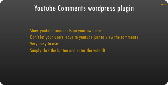 WP - Youtube Comments - WorldWideScripts.net Item por Vendo