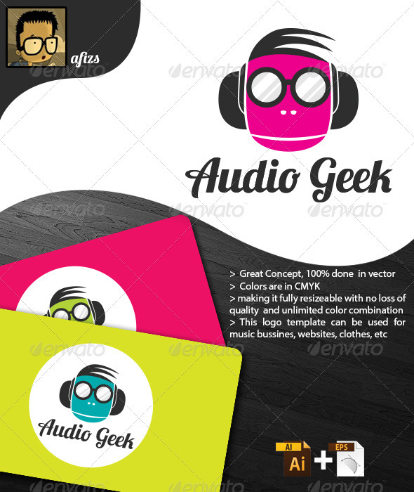 GraphicRiver Audio Geek Logo 3393986