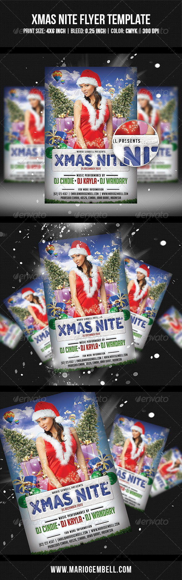 GraphicRiver XMas Nite Flyer Template 3394309