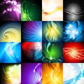 Bright shiny backgrounds with abstract smooth waves - PhotoDune Item for Sale