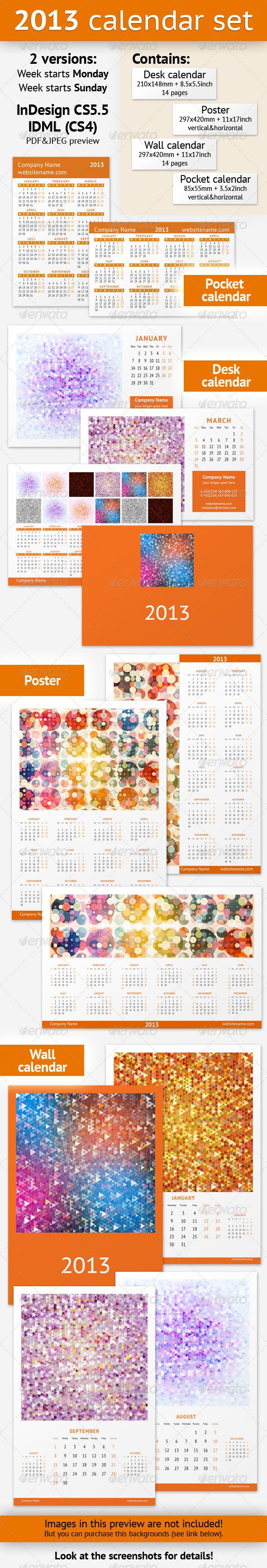 GraphicRiver 2013 Calendar Set 3394781