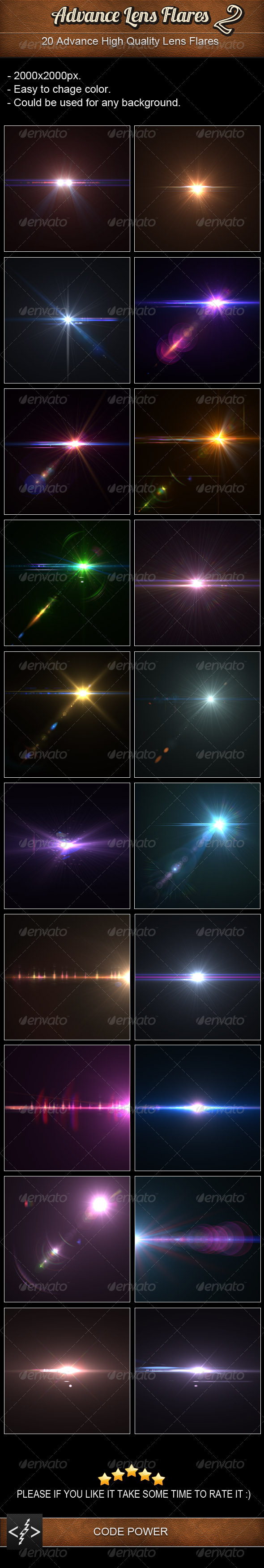 GraphicRiver Advance Lens Flares 2 3395485