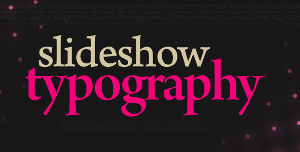 VideoHive Slideshow Typography 3395510