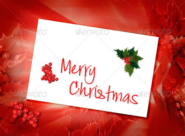 Christmas card background - Stock Photo - Images