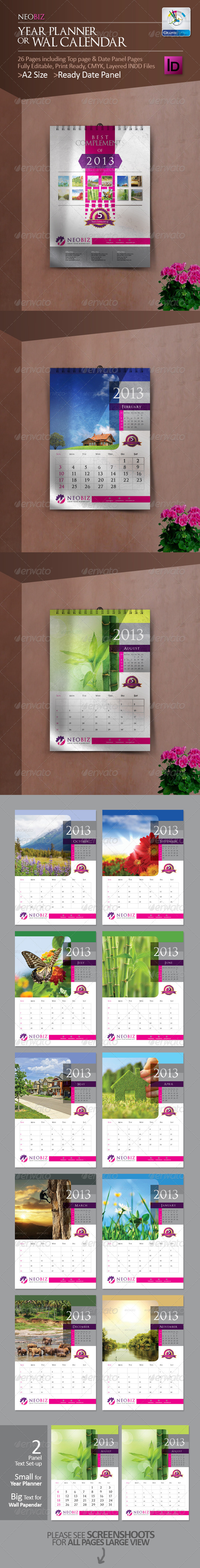 GraphicRiver NeoBiz Year Planner Wall Calendar 3396652
