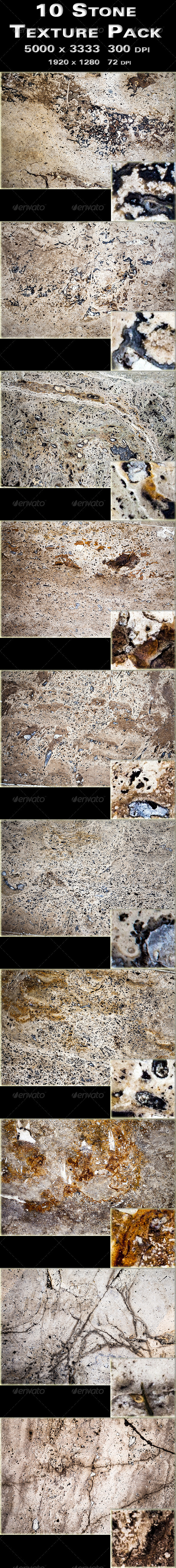 GraphicRiver 10 Stone Texture Pack 3397107