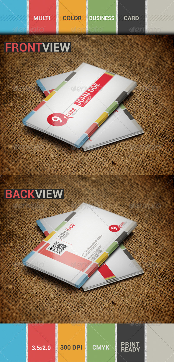 GraphicRiver Multi-Color Business card 3374552