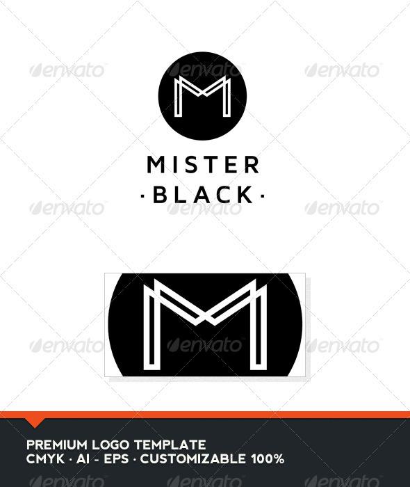 GraphicRiver Mister Black Letter M Logo Tempate 3399704