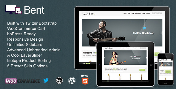 Bent - Responsive WordPress eCommerce - Theme preview.