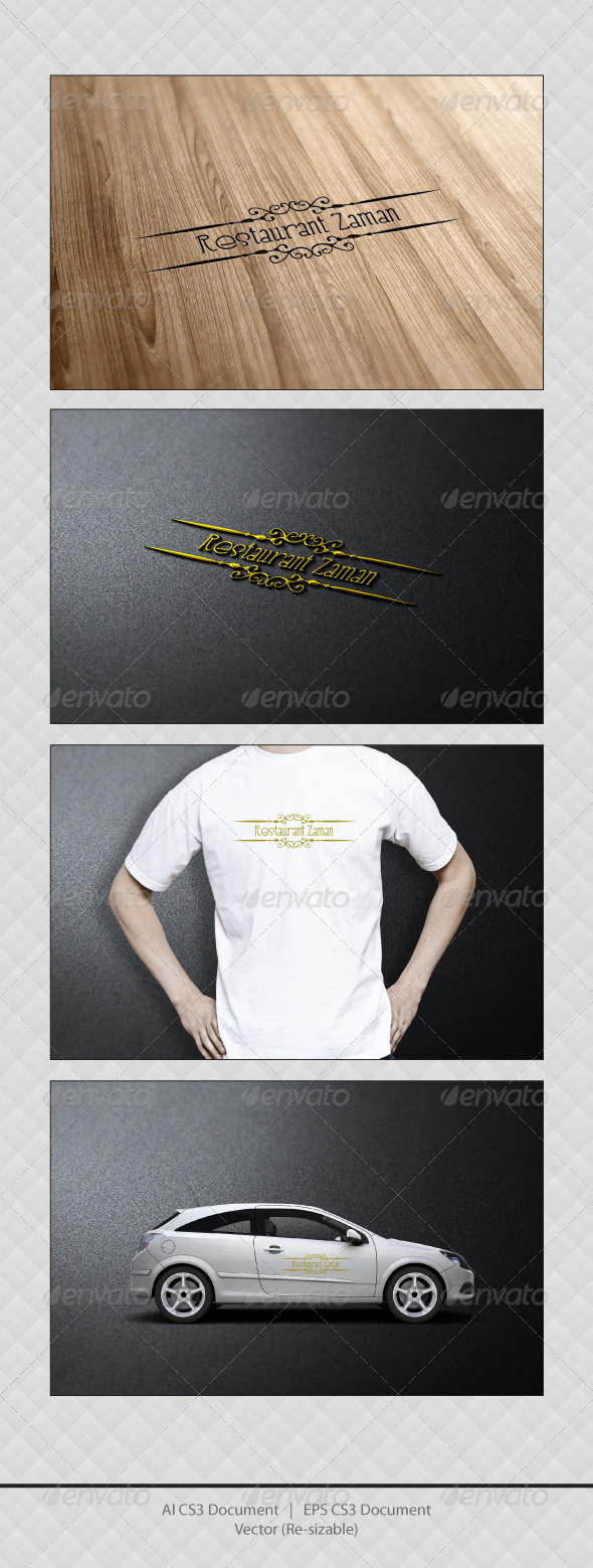 GraphicRiver Restaurant Zaman Logo Templates 3293938