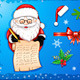 Santa-Claus Writing on Scroll with Christmas Icons - GraphicRiver Item for Sale