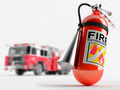 Fire truck and a fire extinguisher - PhotoDune Item for Sale