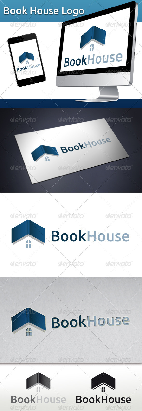GraphicRiver Book House Logo 3401329