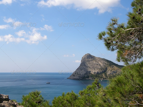 Mount cob-kai, the Crimea, a new light - Stock Photo - Images