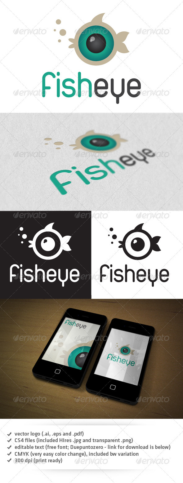 Fisheye Logo - Animals Logo Templates
