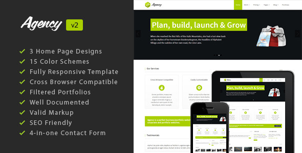 Multi-Purpose HTML5 Responsive Template: Agency