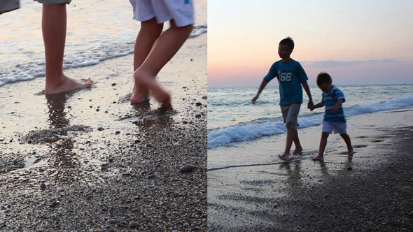 Children Walking 2-Pack  VideoHive Stock Footage  Kids 3402366