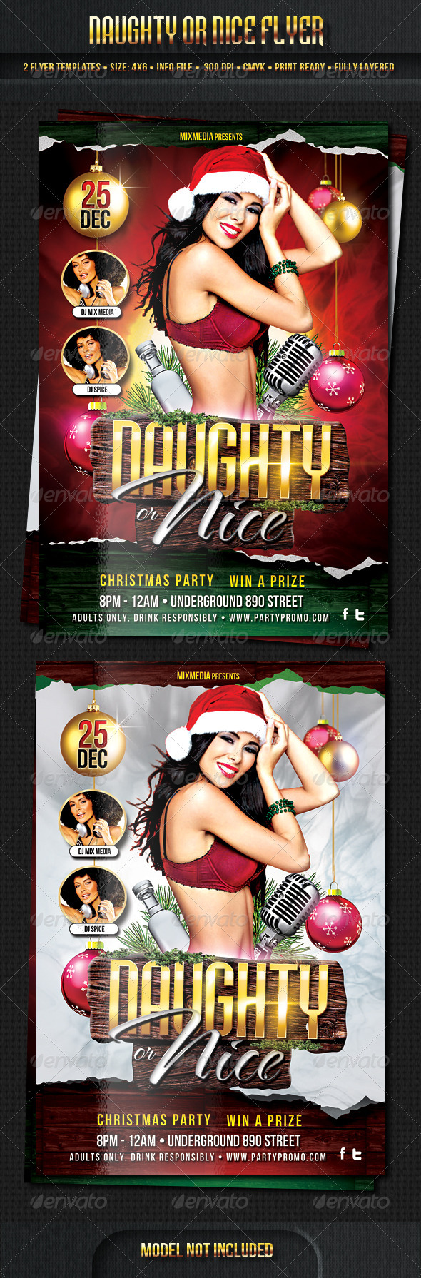 Naughy or Nice Flyer Template - Clubs & Parties Events