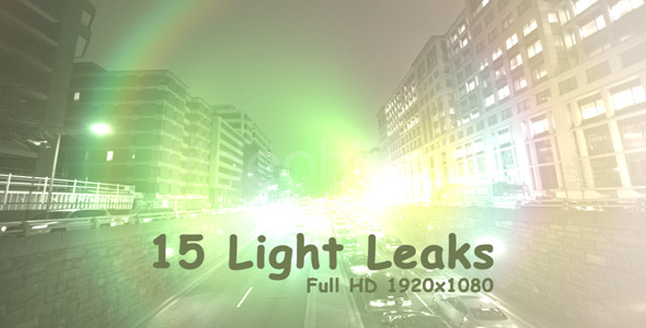 Light Leaks 2 15-Pack  VideoHive Motion Graphic Overlay Light 3365311
