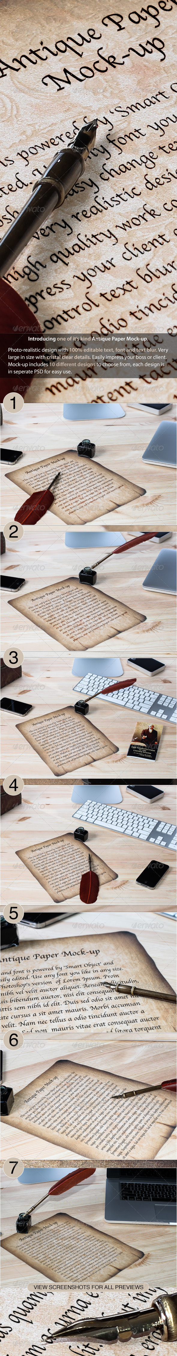 GraphicRiver Antique Paper Mock-up 3404744