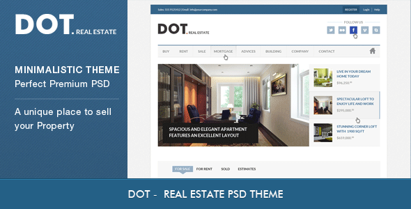 ThemeForest DOT Real Estate PSD Template 3226429