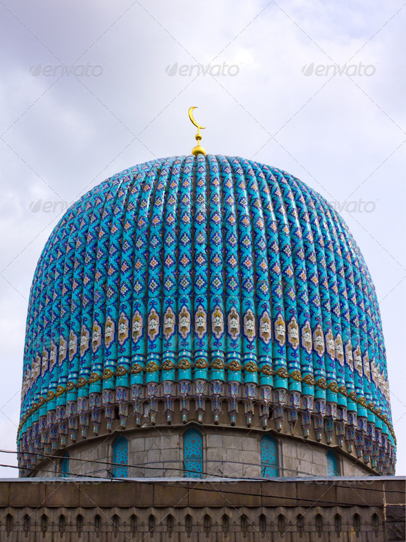 Dome of the Cathedral Mosque of St. Petersburg - Stock Photo - Images