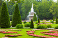 Peterhof Palace. Roman fountain of the Lower Park in the rain - PhotoDune Item for Sale