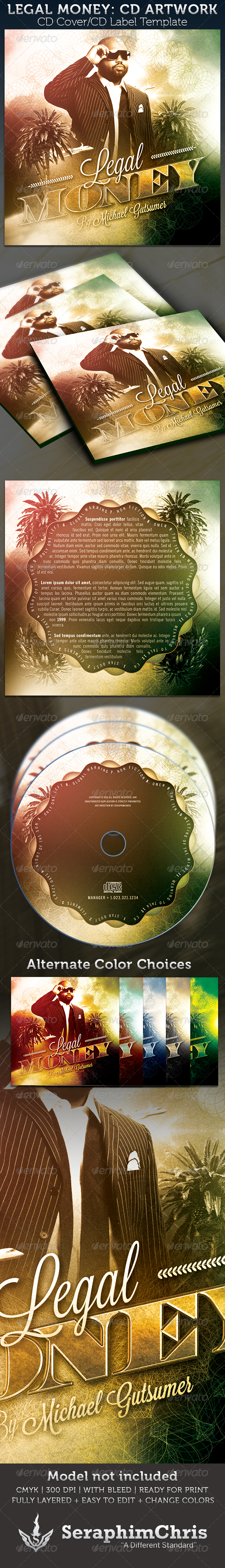 GraphicRiver Legal Money CD Cover Artwork Template 3405904
