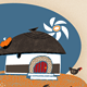 African Hut with Woman, Chickens &amp;amp; Sunshine - GraphicRiver Item for Sale
