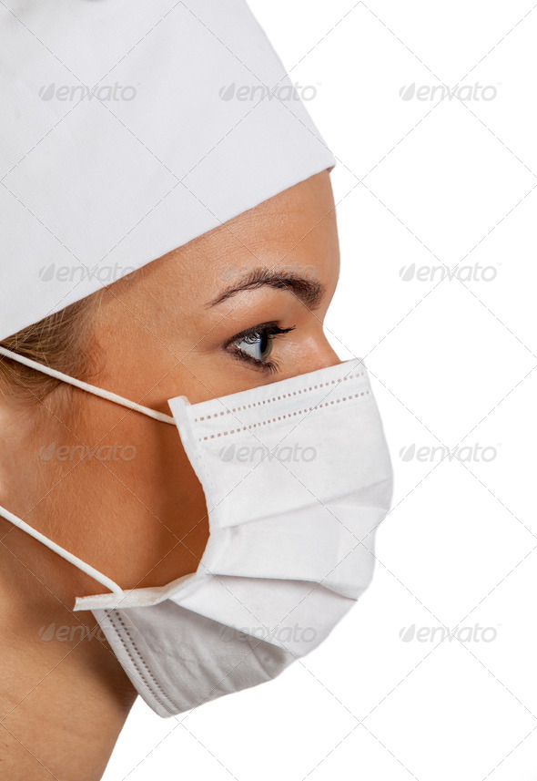 Profile of a Female Surgeon  - Stock Photo - Images